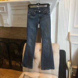 7FAM A Pocket bootcut flare denim blue jeans SZ 27